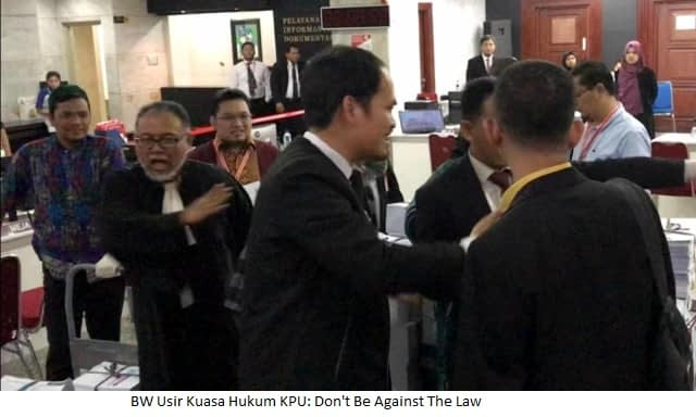BW Usir Kuasa Hukum KPU: Don't Be Against The Law