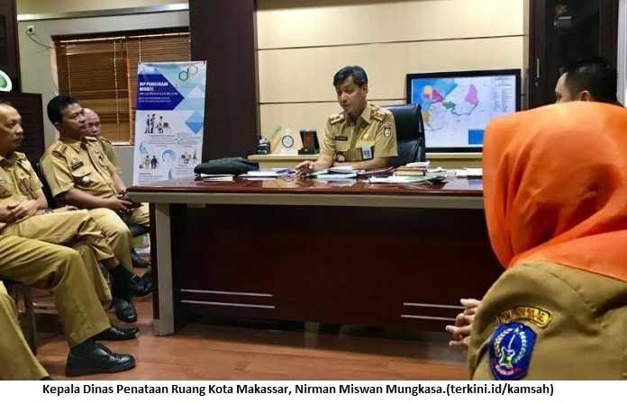 Kepala Dinas Penataan Ruang Kota Makassar, Nirman Miswan Mungkasa.(terkini.id/kamsah)
