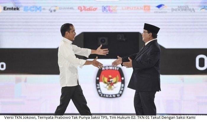 Versi TKN Jokowi, Ternyata Prabowo Tak Punya Saksi TPS, Tim Hukum 02: TKN 01 Takut Dengan Saksi Kami