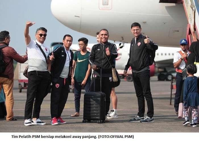 Tim Pelatih PSM bersiap melakoni away panjang. (FOTO:OFISIAL PSM)