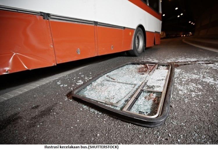 Ilustrasi kecelakaan bus.(SHUTTERSTOCK)