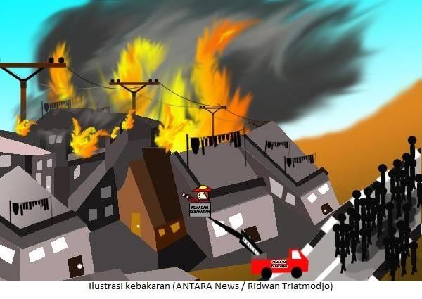 Ilustrasi kebakaran (ANTARA News / Ridwan Triatmodjo)