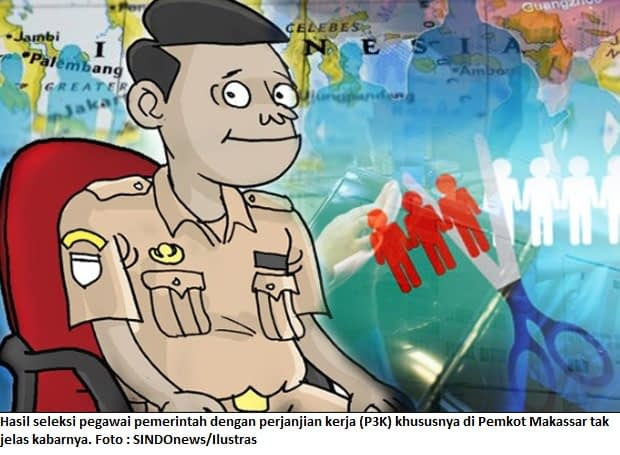 Hasil seleksi pegawai pemerintah dengan perjanjian kerja (P3K) khususnya di Pemkot Makassar tak jelas kabarnya. Foto : SINDOnews/Ilustras