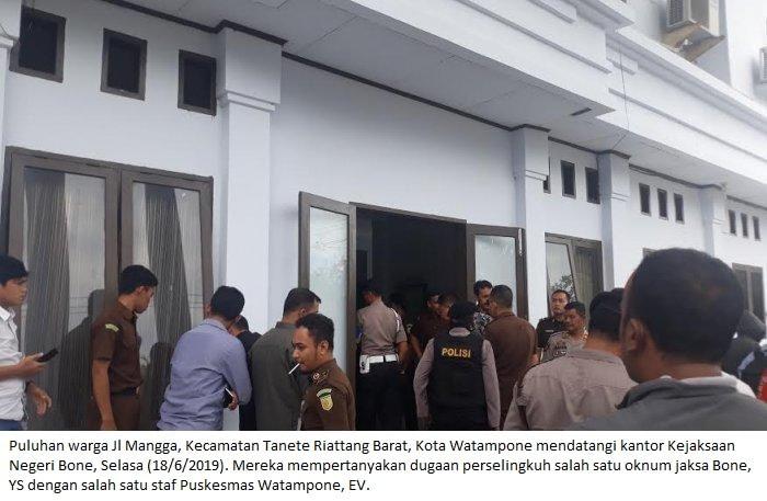 Oknum Jaksa Kabupaten Bone Dituduh Selingkuhi Staf Puskesmas, Warga Geruduk Kantor Kejaksaan